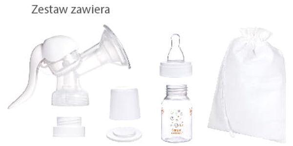 Odsávačka mateřského mléka Canpol babies Basic ruční bílá3