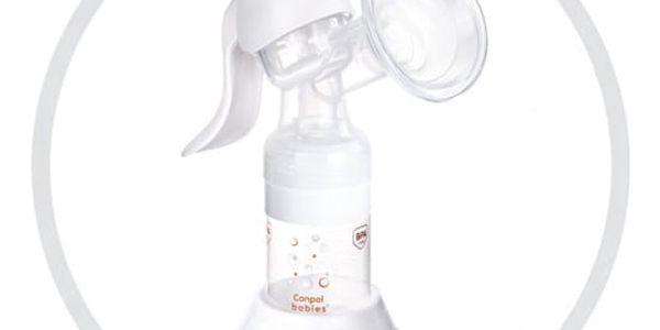 Odsávačka mateřského mléka Canpol babies Basic ruční bílá4