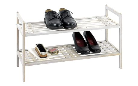 Dřevěný stojan na boty, obuv, NORWAY - 2 úrovně, WENKO