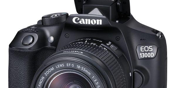 Digitální fotoaparát Canon EOS 1300D + 18-55 mm DC III černý Starter Kit černý + DOPRAVA ZDARMA3