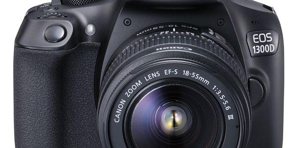 Digitální fotoaparát Canon EOS 1300D + 18-55 mm DC III černý Starter Kit černý + DOPRAVA ZDARMA4