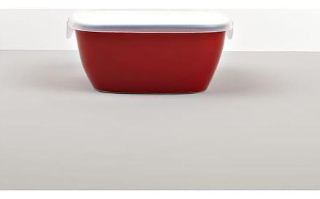 MIJ Hranatá nádoba s víkem COLOURBLOCK červená