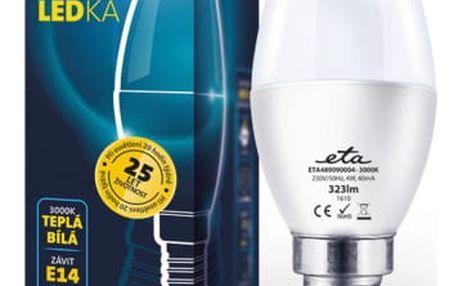 Žárovka LED ETA EKO LEDka svíčka, 4W, E14, teplá bílá (C37-PR-323-16A)