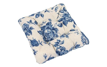 Bellatex Sedák Ivo růže modrá, 40 x 40 cm
