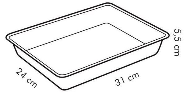 Tescoma DELÍCIA hluboký plech na pečení 31 x 24 cm2