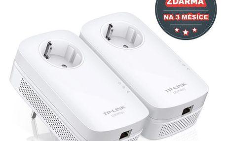 Síťový rozvod LAN po 230V TP-Link TL-PA8010P Starter Kit + IP TV na 3 měsíce ZDARMA (TL-PA8010PKIT)