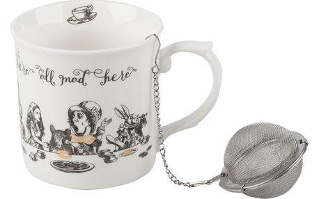 Porcelánový hrnek se sítkem Creative Tops Alice in Wonderland, 300 ml