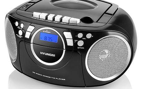 Radiomagnetofon s CD Hyundai TRC 788 AU3BS černý/stříbrný