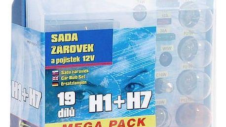 Autožárovka Compass 12 V servisní box MEGA H1 + H7 + pojistky