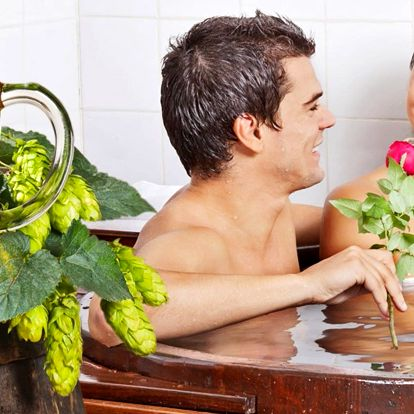 Pivní lázeň se saunou a možností peelingu i vína