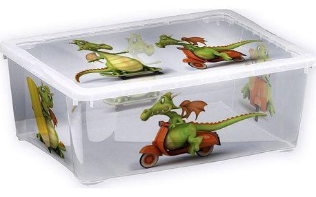 Plastový úložný box Dráček, 17 l