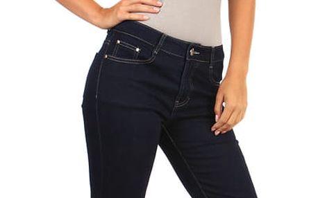 Dámské rovné džíny - i pro plnoštíhlé tmavě modrá