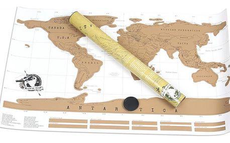 Mapa světa-stírací