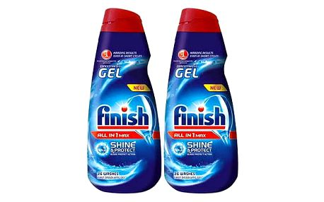 Finish All in 1 gel do myčky nádobí 2 x 650 ml