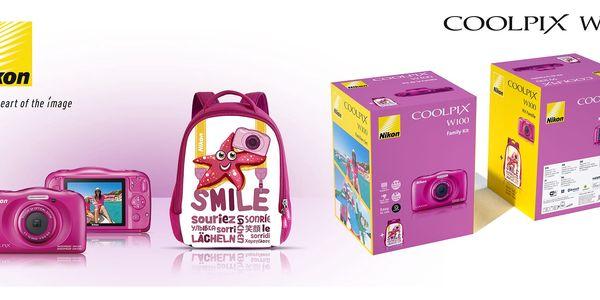 Digitální fotoaparát Nikon Coolpix W100 BACKPACK KIT (VQA012K001) růžový + DOPRAVA ZDARMA3