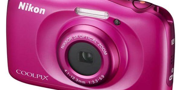 Digitální fotoaparát Nikon Coolpix W100 BACKPACK KIT růžový (VQA012K001)