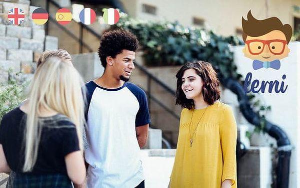 Roční balíček online výuky angličtiny, němčiny, francouzštiny, španělštiny a italštiny