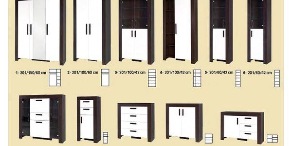 Ložnice STRAKOŠ C-S 01, postel 160 cm2