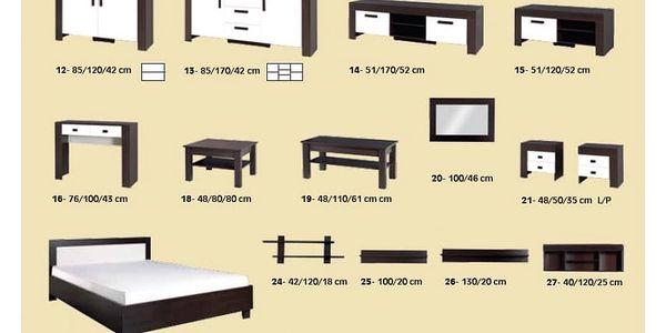 Ložnice STRAKOŠ C-S 01, postel 160 cm3