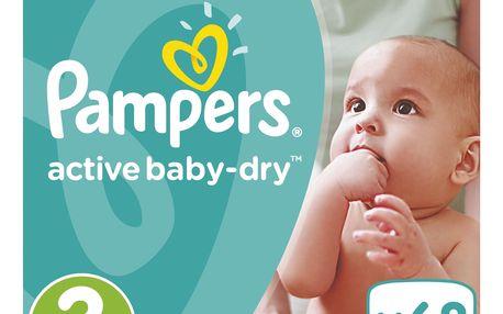 Pampers Active Baby-Dry pleny 3 Midi, 5-9 kg 68 ks
