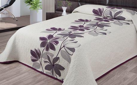 Forbyt Přehoz na postel Azura fialová, 240 x 260 cm