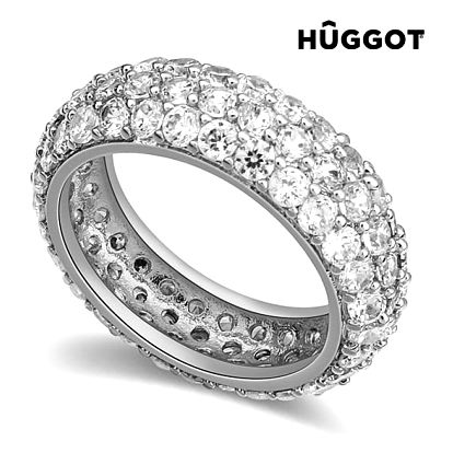 Prsten potažený rhodiem se zirkony Princess Hûggot