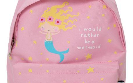 A Little Lovely Company Dětský batůžek Mermaid, růžová barva, textil