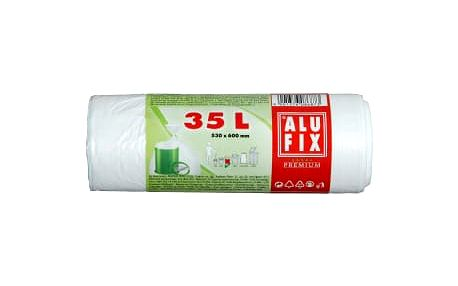 Alufix odpadkové pytle bílé, 35 l 30 ks