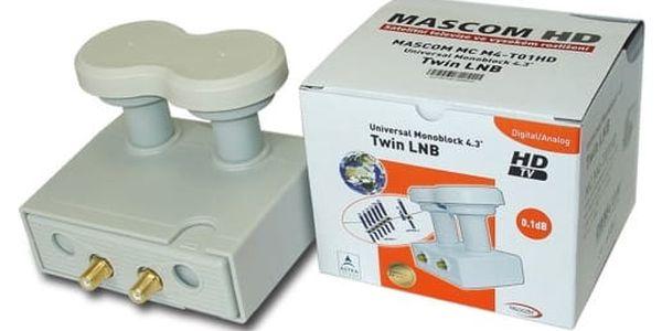 Konvertor Mascom LNB-MCM4T01HD bílý + DOPRAVA ZDARMA2