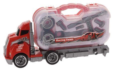 Nákladní auto Construction, červená