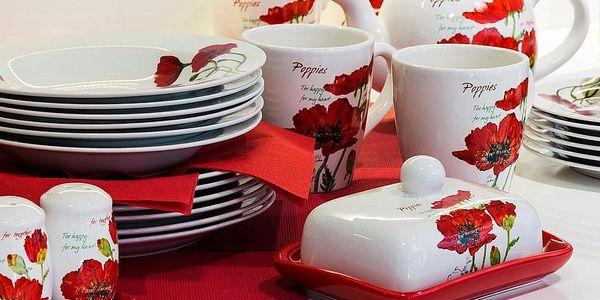 BANQUET Red Poppy servírovací misky v košíku 4 díly 601559RP2