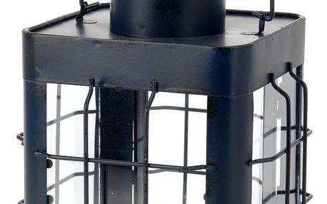 Emako Kovová lucerna - modro-černá barva