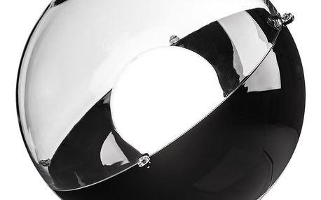 Stojací lampa ORION - černá barva s průhledným krytem, KOZIOL