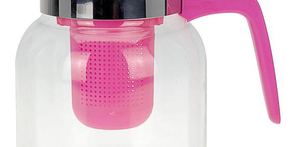 Čajová konvice CONFETTI, 1500 ml - barva růžová EH Excellent Houseware