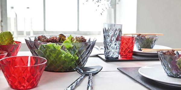 Lžíce na salát CRYSTAL - šedá barva, KOZIOL2