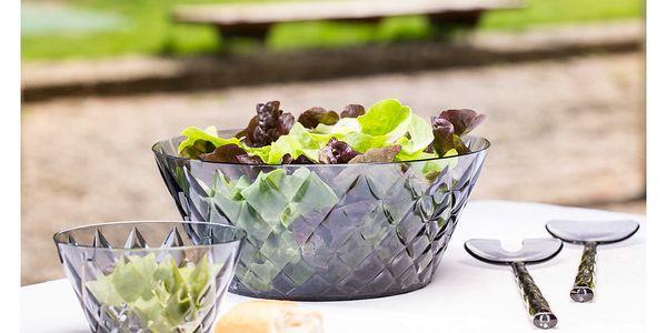 Lžíce na salát CRYSTAL - šedá barva, KOZIOL3