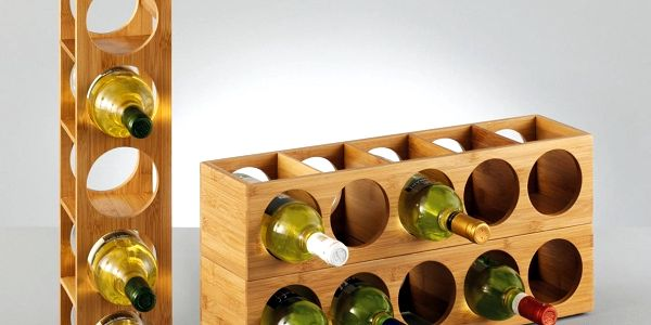 ZELLER Bambusový stojan na víno - 5 lahví3