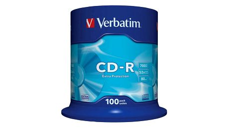 Disk Verbatim CD-R DL 700MB/80min, 52x, 100-cake (43411)
