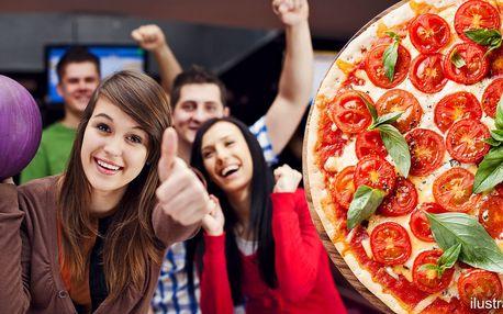 1 či 2 hodiny bowlingu až pro 6 osob a pizza