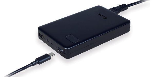 Napájecí adaptér i-tec SMART Charger, USB-C (60W), USB (10W) (CHARGER-C60W) černý2