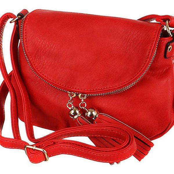 Dámská mini kabelka přes rameno bílá2