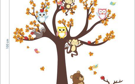 Dětská samolepka Ambiance Tree with Animals