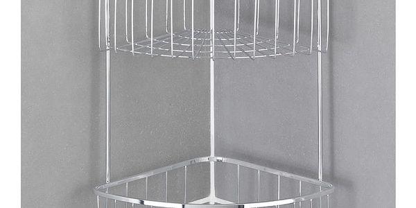 Koupelnová rohová police BOVINO, Power-Loc, 2 úrovně - nerezová ocel, WENKO3