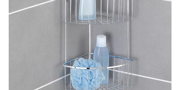 Koupelnová rohová police BOVINO, Power-Loc, 2 úrovně - nerezová ocel, WENKO5