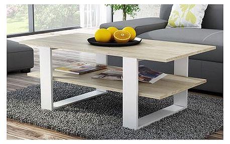 Konferenční stolek SALON bud sonoma/bílá