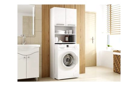 Skříňka do koupelny s možností uložení pračky bílá