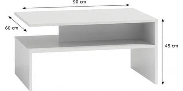 Konferenční stolek BOSTON bílá2