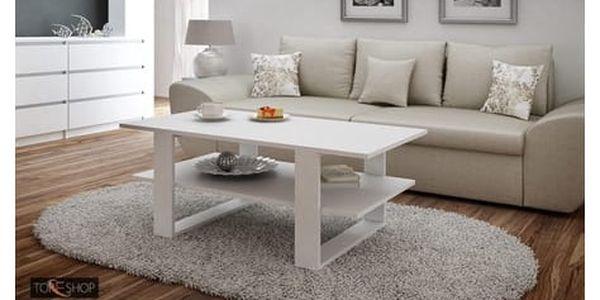 Konferenční stolek SALON bílá2