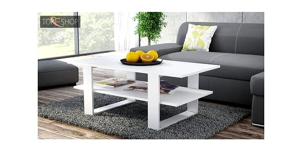 Konferenční stolek SALON bílá3