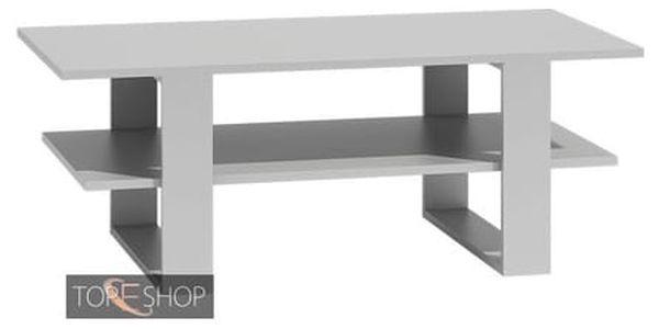 Konferenční stolek SALON bílá4